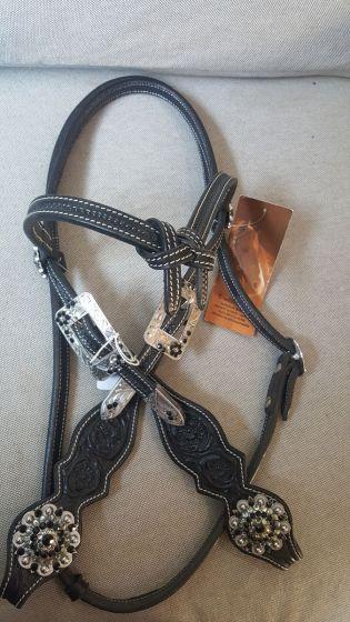 Custom Futurity Headstall - Black