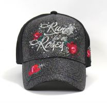 Run For The Roses Cap - Black/Silver