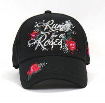 Run For The Roses Cap - Black/Black