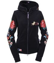 "Ranchgirls Hooded Jacket ""Fleur"" - Black - Medium"