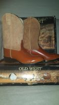 Old West red with suede