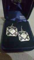 Montana Silversmith Square Silver Black Earrings