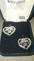 Montana Silversmith Silver Heart Earrings