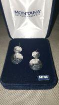 Montana Silversmith Silver Engraved Conchos Earrings