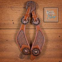 Billy Royal Wild Croc spur straps