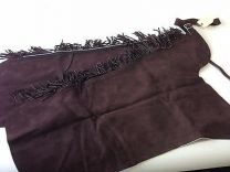 Chaps Suede Fringe bootcut brown