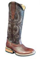 Bull's Eye Boots Square Toe and Medium High Shaft