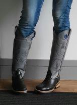 Bull's Eye Boots Lizard Toe & Extra High Shaft - Gray