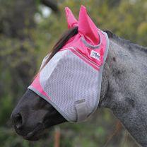 Cashel Crusader Vliegenmasker met Oren - Pink Ribbon