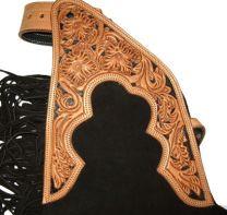 Cattlemans Suede Chaps - Black