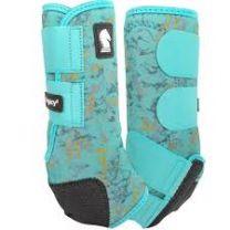 Classic Equine Legacy2 Boots - Pattern - Medium - Turquoise Slab