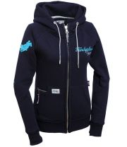 "Ranchgirls Hooded Jacket ""SHILOH"" - Navy/Sky"