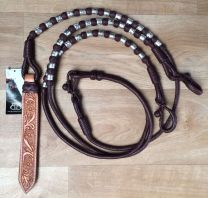 Cherry With Silver Romal Reins