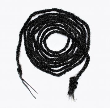 "Horse Hair Mecate - 5/8"" x 22ft. - Black"