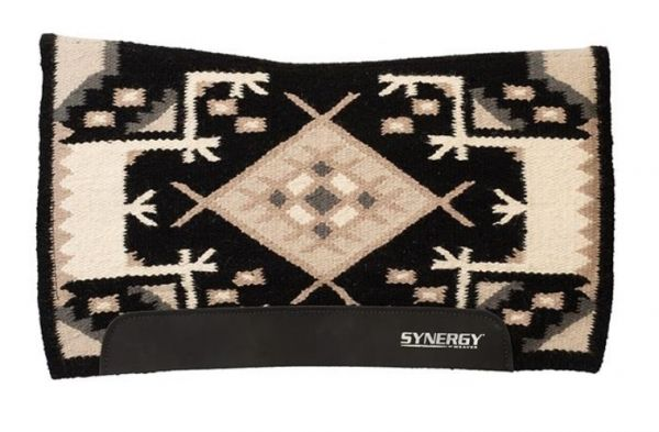 Weaver Synergy® Flex Contour Performance Saddle Pad - Black/Bisque