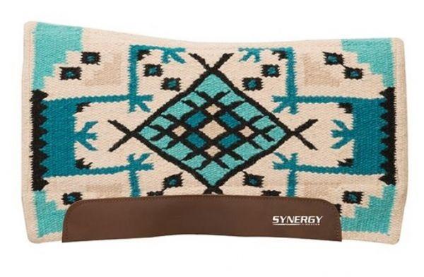 Weaver Synergy® Flex Contour Performance Saddle Pad - Cream/Turquoise